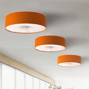 Skin 70cm faux leather ceiling light in 10 colours