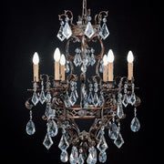 6 light chandelier with hand-cut Turkish crystals