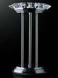 Modern chrome table lamp with optical crystal