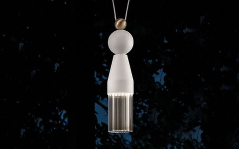 Modern single tassel-style pendant light from Italy in 4 colours