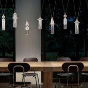 Modern 10 light composition from Italy in 4 neutral metal colours