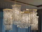 12 light modern chandelier with smoky cut crystal or Swarovski Elements
