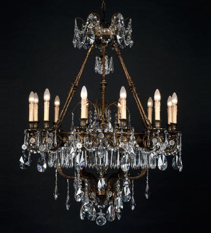Egyptian Asfour crystal and gold chandelier