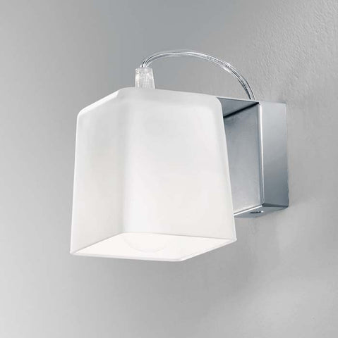 Adjustable white satin glass up/down lighter for wall