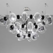 Modern Italian ceiling light with coloured glass balls