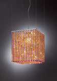 Swarovski crystal pendant light with choice of 6 colours