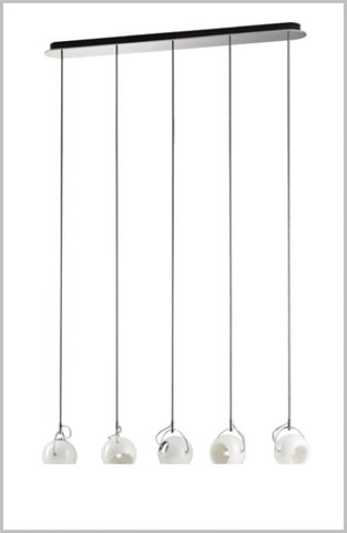 Beluga D57 White A23 spot ceiling light from Fabbian