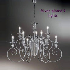 Gold plated chandelier with Austrian crystal & chrome option