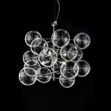 Glass bubble ceiling pendants and lights