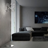 Glass bubble wall and floor lamps