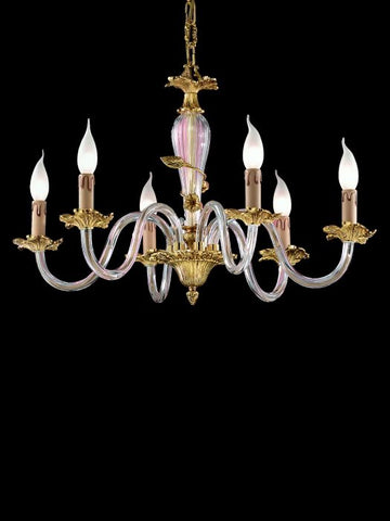 Elegant Chandelier With Murano Glass Decoration