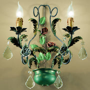 Verdigris Double Wall Light
