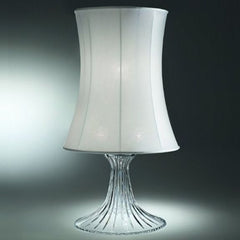 Modern Italian glass table light with purple or white shade