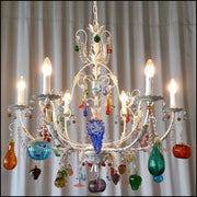 6 Arm Murano Glass Fruit Chandelier