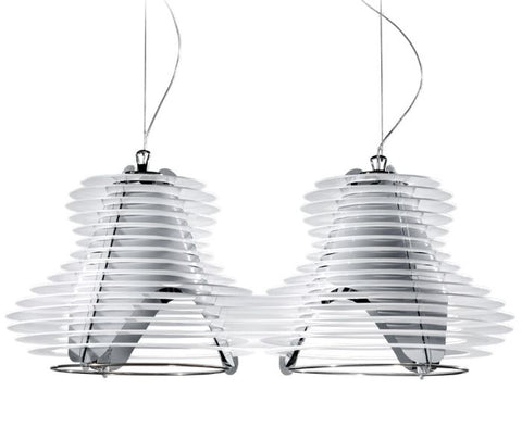 Faretto black or white double pendant light from Slamp
