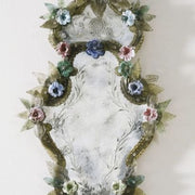 Venetian mirror with custom Murano floral decoration