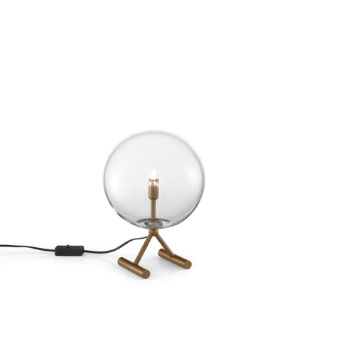 Estro glass globe table and wall light