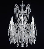 8 Light Luxury Bohemian Crystal Glass Chandelier