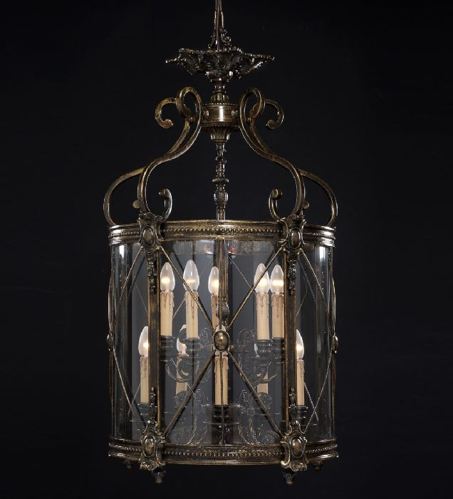 10 Light Bespoke French Gold Lantern