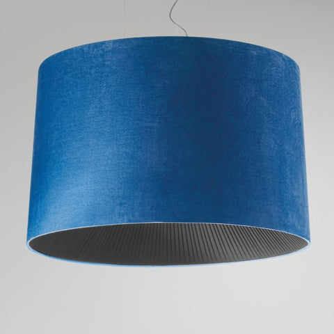 100 cm faux suede pendant light with diffuser in lots of colours
