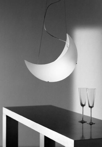 Modern Murano glass moon-shaped ceiling pendant