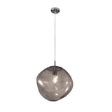 Glass rock shaped pendant lights