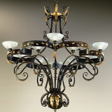 Very Large Iron Chandelier