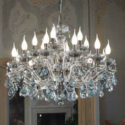 Smoked Glass Crystal Chandelier