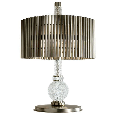 Modern metal table light with crystal detail