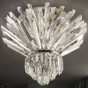 Modern mid-century lead crystal prism ceiling light