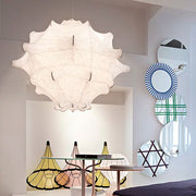 Taraxacum white resin cocoon ceiling light from Flos