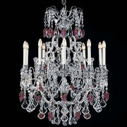 10 Light Pewter Chandelier with Crystals