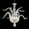Modern white Murano glass art chandelier