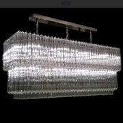 Mid-century Murano prism dining room chandelier in custom sizes
