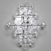 Modern Italian glass wall light in 5 colours