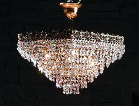 Hexagonal italian lead crystal chandelier crystal basket ceiling hexagonal basket chandelier with 24 lead crystal droplets aloadofball Image collections