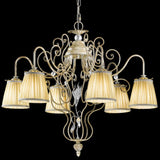 Wrought iron chandelier with LED & 6 shades