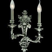 Antiqued Silver 2 Light Wall Light