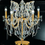 Gold plated crystal chandelier table light