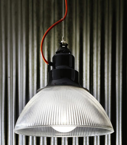 Chic industrial style pendant with colour options