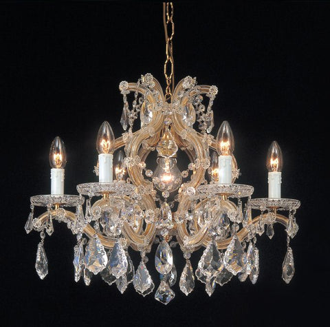Maria Theresa  Swarovski Strass lead crystal 7 light chandelier