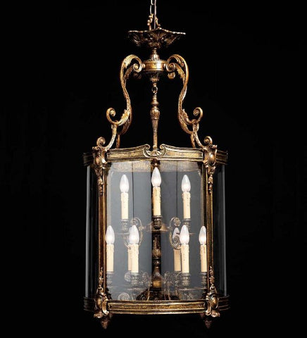 Metre-tall French gold Italian lantern