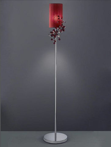 Red Swarovski Strass crystal flower floor lamp