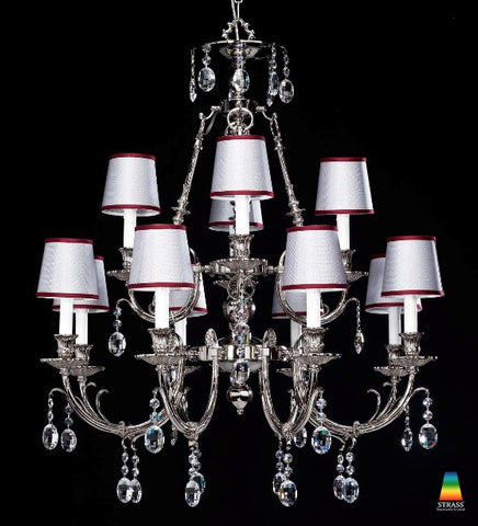 Nickel and Swarowski Cystal Chandelier