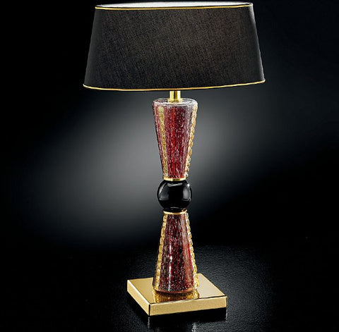 Amethyst and gold Murano glass table lamp