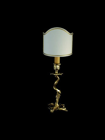 Exquisite 24 carat gold plated brass table lamp