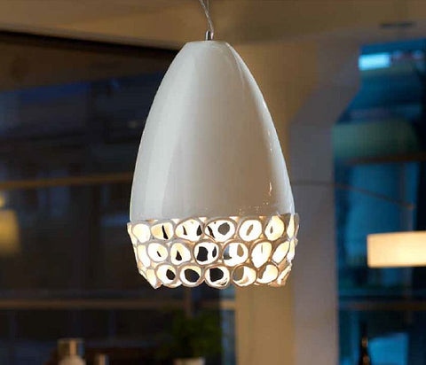Modern white high gloss ceramic ceiling light