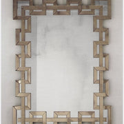 Very Large Venetian Wall Mirror in Silver or Amber