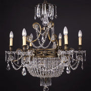 Superb traditional brass ans Asfour crystal chandelier
