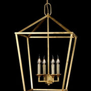 Large modern French gold ceiling lantern